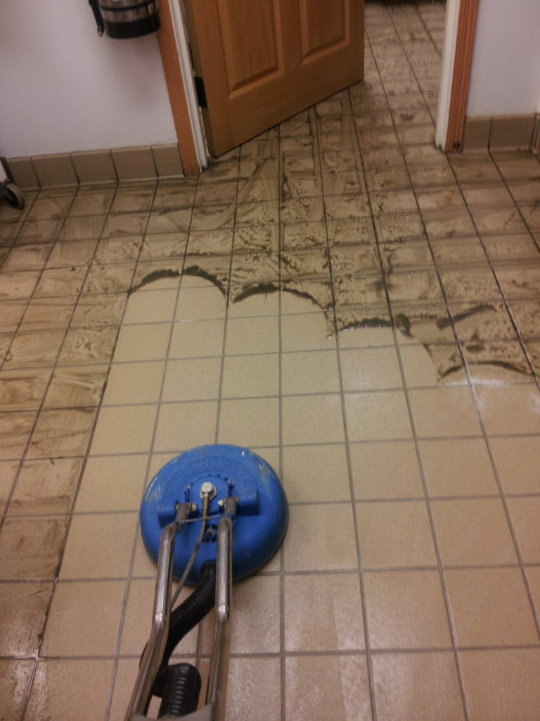 best way to clean tile grout on kitchen floor quarry