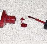 Nail varnish on carpet